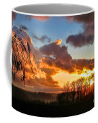 Sunrise Over Countryside Coffee Mug by Olivier Le Queinec