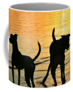 Sunset Dogs  Coffee Mug by Laura Fasulo