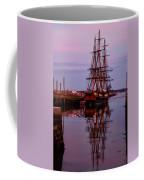 Sunset On The Friendship Of Salem Coffee Mug by Jeff Folger