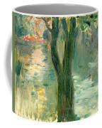Sunset Over The Lake Bois De Boulogne Coffee Mug by Berthe Morisot