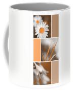 Tangerine Flowers Collage Coffee Mug by Christina Rollo