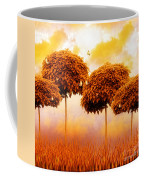 Tangerine Trees And Marmalade Skies Coffee Mug by Mo T