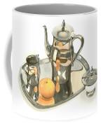 Tea Service With Orange Dramatic Coffee Mug by Kip DeVore