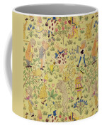Textile Design For Alice In Wonderland Coffee Mug by Voysey