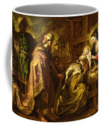 The Adoration Of The Magi Coffee Mug by Orazio de Ferrari