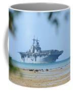 The Amphibious Assault Ship Uss Boxer  Coffee Mug by Paul Fearn