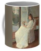 The Artist's Sister At A Window Coffee Mug by Berthe Morisot
