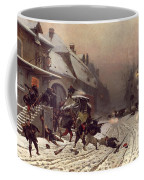 The Attack At Dawn Coffee Mug by Alphonse Marie De Neuville