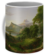 The Course Of Empire   The Arcadian Or Pastoral State Coffee Mug by Thomas Cole