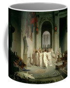 The Death Of Caesar Coffee Mug by Jean Leon Gerome