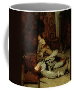 The End Of The Game Of Cards Coffee Mug by Jean Louis Ernest Meissonier
