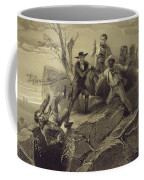 The Fight Between George And Tom Loker Coffee Mug by Adolphe Jean-Baptiste Bayot