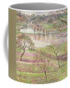 The Flood At Eragny Coffee Mug by Camille Pissarro
