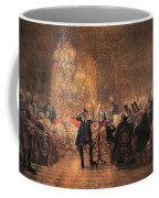 The Flute Concert Coffee Mug by Adolph Friedrich Erdmann von Menzel