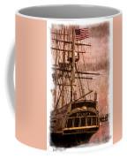 The Gleaming Hull Of The Hms Bounty Coffee Mug by Debra and Dave Vanderlaan
