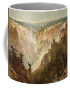 The Grand Canyon Of The Yellowstone Coffee Mug by Thomas Hill