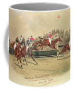 The Grand National Over The Water Coffee Mug by William Verner Longe
