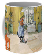 The Kitchen From A Home Series Coffee Mug by Carl Larsson