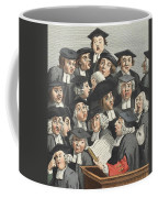 The Lecture, Illustration From Hogarth Coffee Mug by William Hogarth