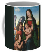 The Madonna And Child With The Young Saint John The Baptist And An Angel  Coffee Mug by Giuliano Buigardini and Mariotto Albertinelli