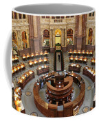 The Main Reading Room Of The Library Of Congress Coffee Mug by Allen Beatty