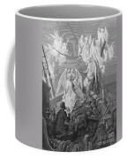 The Mariner Sees The Band Of Angelic Spirits Coffee Mug by Gustave Dore