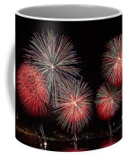 The New York City Skyline All Lit Up Coffee Mug by Susan Candelario