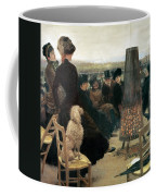 The Races At Auteuil Coffee Mug by Giuseppe Nittis