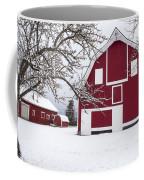 The Red Barn Coffee Mug by Fran Riley