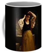 The Red Ribbon Coffee Mug by William Adolphe Bouguereau