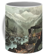 The Route To California Coffee Mug by Currier and Ives