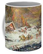 The Russian Winter Coffee Mug by Konstantin Korovin