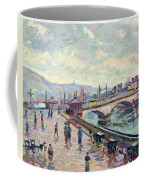 The Seine At Rouen Coffee Mug by Jean Baptiste Armand Guillaumin
