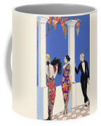 The Taste Of Shawls Coffee Mug by Georges Barbier