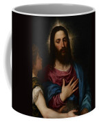 The Temptation Of Christ Coffee Mug by Titian