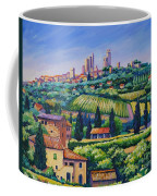 The Towers Of San Gimignano Coffee Mug by John Clark