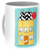 Thinking Of You Card Coffee Mug by Linda Woods