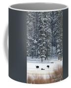 Three Bull Moose Coffee Mug by Deby Dixon