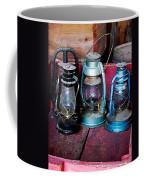 Three Kerosene Lamps Coffee Mug by Susan Savad