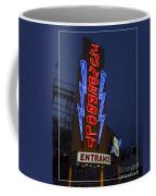 Thunderbolt Rollercoaster Neon Sign Coffee Mug by Edward Fielding