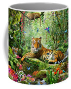 Tiger In The Jungle Coffee Mug by Adrian Chesterman