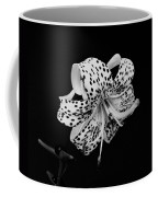 Tiger Lily In Black And White Coffee Mug by Sandy Keeton