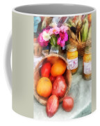 Tomatoes And Peaches Coffee Mug by Susan Savad