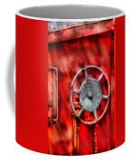 Train - Car - The Wheel Coffee Mug by Mike Savad