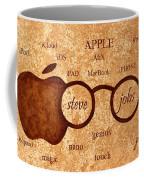 Tribute To Steve Jobs 2 Digital Art Coffee Mug by Georgeta  Blanaru