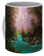 Turquoise Waterfall Coffee Mug by C Steele