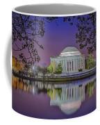 Twilight At The Thomas Jefferson Memorial  Coffee Mug by Susan Candelario