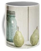 Two Pear Still Life Coffee Mug by Edward Fielding