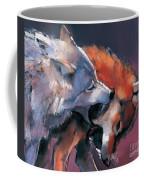 Two Wolves Coffee Mug by Mark Adlington