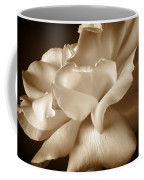 Umber Rose Floral Petals Coffee Mug by Jennie Marie Schell